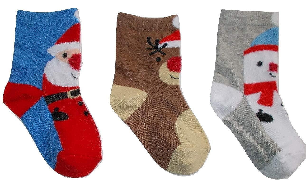 Baby festive Christmas Short Socks Snowman Reindeer Father Christmas