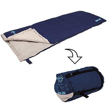 Saco de dormir Topaz XXL, extra ancho, compresión móvil, 215 x 85 cm
