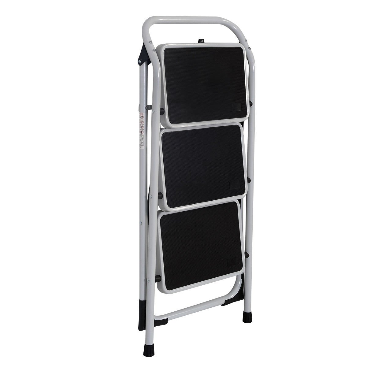 Z ZTDM Portable 3 Step Ladder with 330lbs Capacity Platform Father's Day Gift Lightweight Short Handrail Iron Folding Stool by Z ZTDM (Image #3)