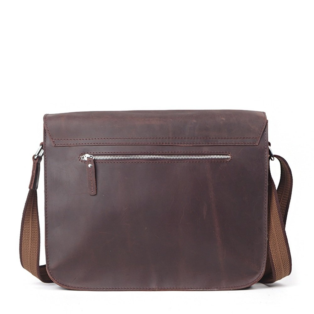 RUNWEI Mens Business Leather Briefcase Travel Bag Fashion Trend Bag Shoulder Casual Mens Bag