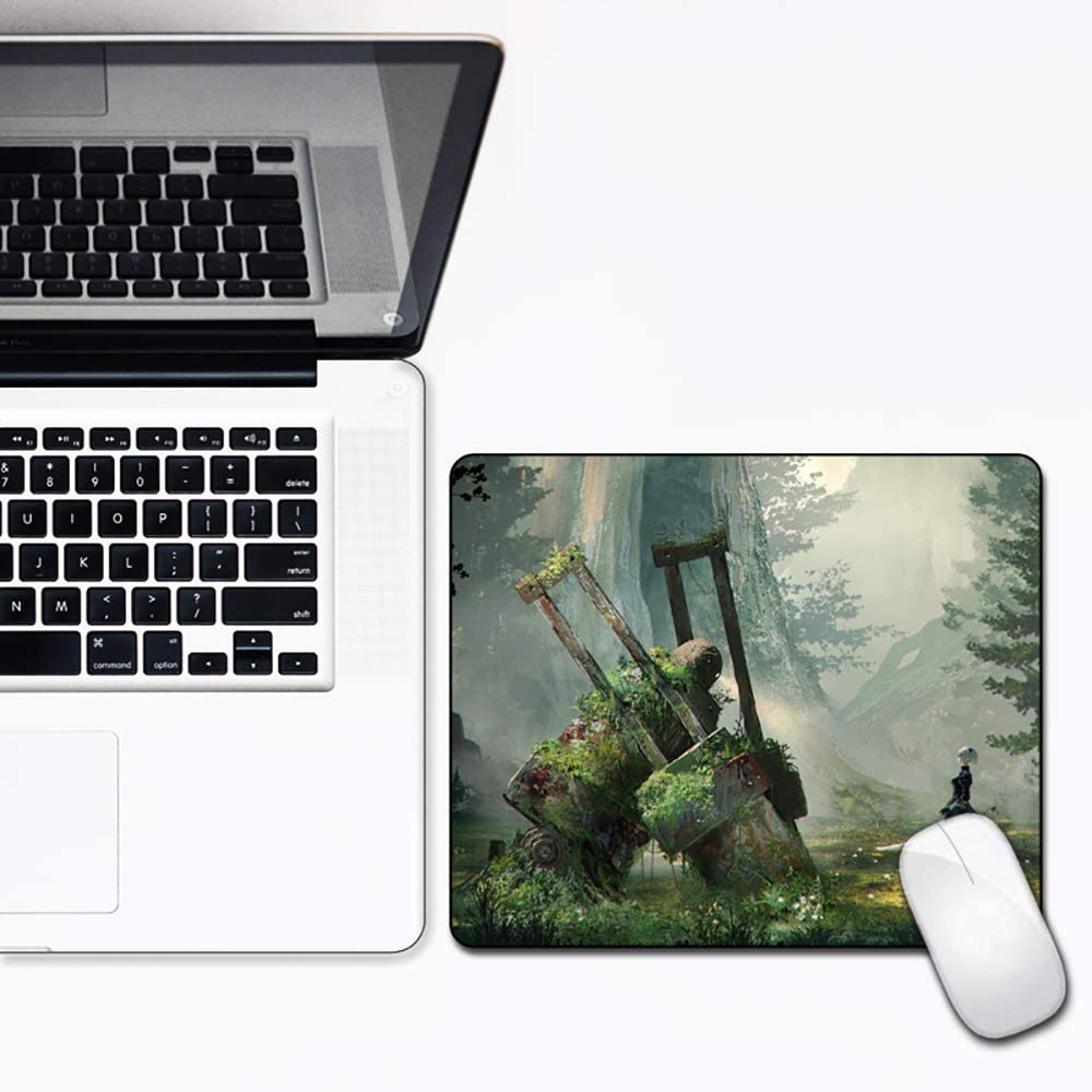 Joy R Daniels Spirited Away 8 Gaming Work Mouse Pad with Stitched Edges for Non-Slip Gaming Thick Rubber Mouse Mat 10X12