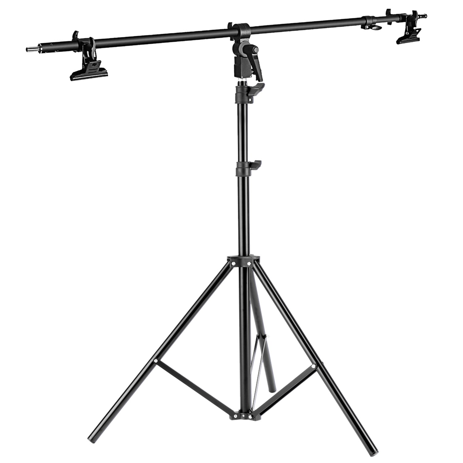 Neewer Photo Studio Alluminum Alloy Light Stand 29.1-74.8 inches/74-190 centimeters Foldable and Reflector Holder Arm 39.7 inches/101 centimeters Retractable Telescopic Crossbar with 2 Pieces Clamps 90092497