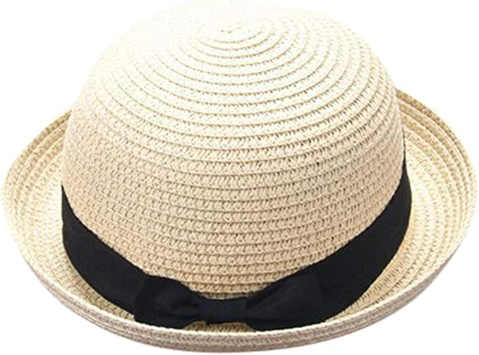 Outdoor Lace Bowknot Straw Cap Parent-Child Beach Sun Straw Hat Sunhat Breathable Straw Hat