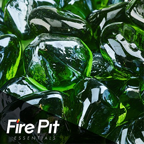 "1"" Diamond Shaped Fire Glass for Indoor or Outdoor Fire P..."