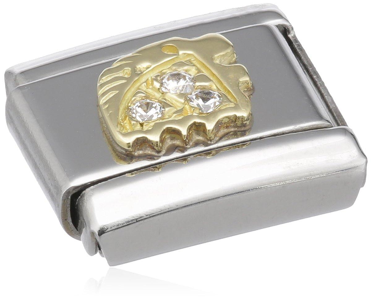 Nomination 030302 - Maillon pour bracelet composable - Femme - Signe astrologique - Lion - Acier inoxydable et Or jaune 18 cts