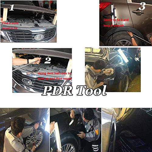 FLY5D Pdr Rod Car Auto Body Dent Removal Automotive Paintless Dent Repair Tools Kit Dent Remover PDR Hail Repair Tool Kits (54cm/21.3inch) by Fly5D (Image #5)