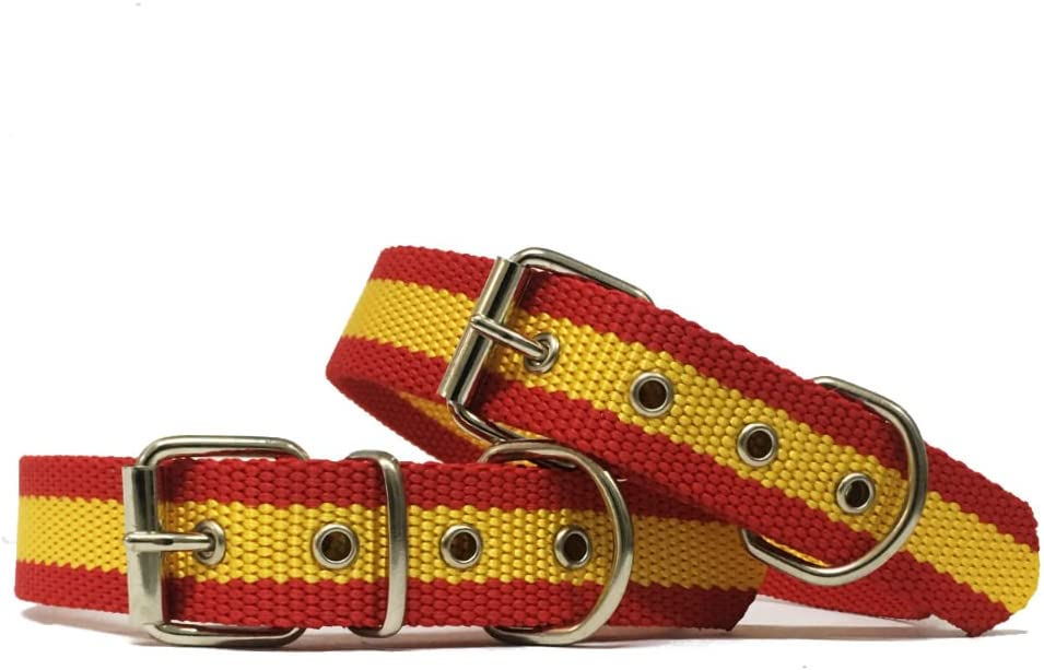 Happyzoo Collar para Perro Bandera de España 60 cm: Amazon.es ...