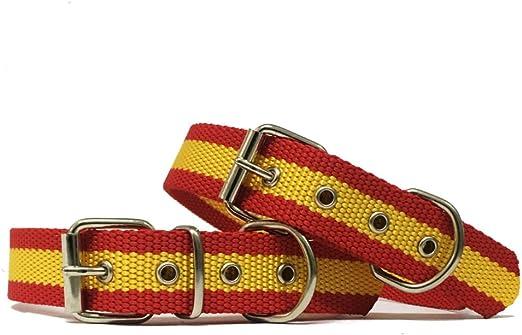 Happyzoo Collar para Perro Bandera de España 60 cm: Amazon.es: Productos para mascotas