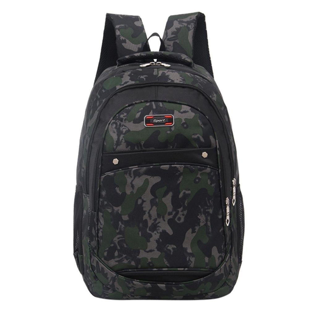 Sameno Teenage Girls Boys School Backpack Camouflage Printing Students Bag (Camouflage)