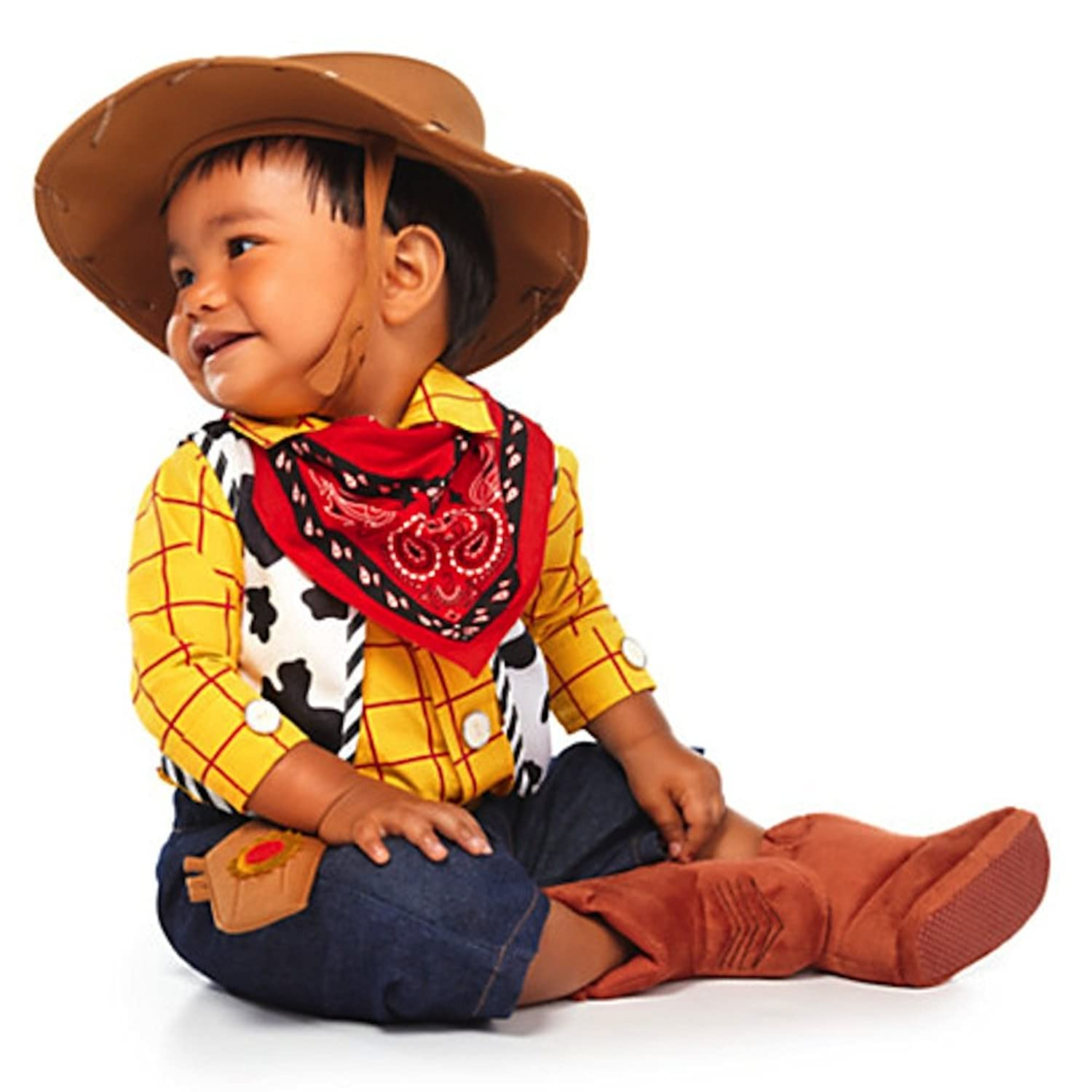 amazoncom disney deluxe toy story woody costume for baby boys toddlers months clothing