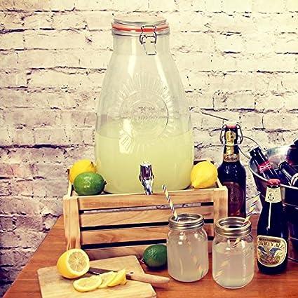 Kilner Square dispensador de bebidas 8ltr - Vintage limonada tarro juego de dispensador de fiestas de