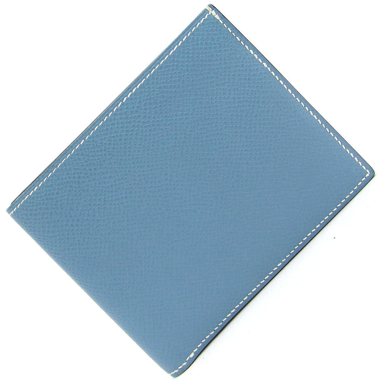 HERMES(エルメス) 二つ折り財布 MC2 タレス ブルージーン ヴォーエプソン 中古 革 ウォレット ブルー系 HERMES [並行輸入品] B07DHCBPVS