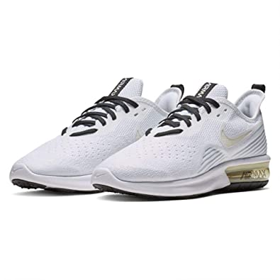 20e3a77506 Nike Women's WMNS Air Max Sequent 4 Track & Field Shoes, Multicolour Pale  Ivory/