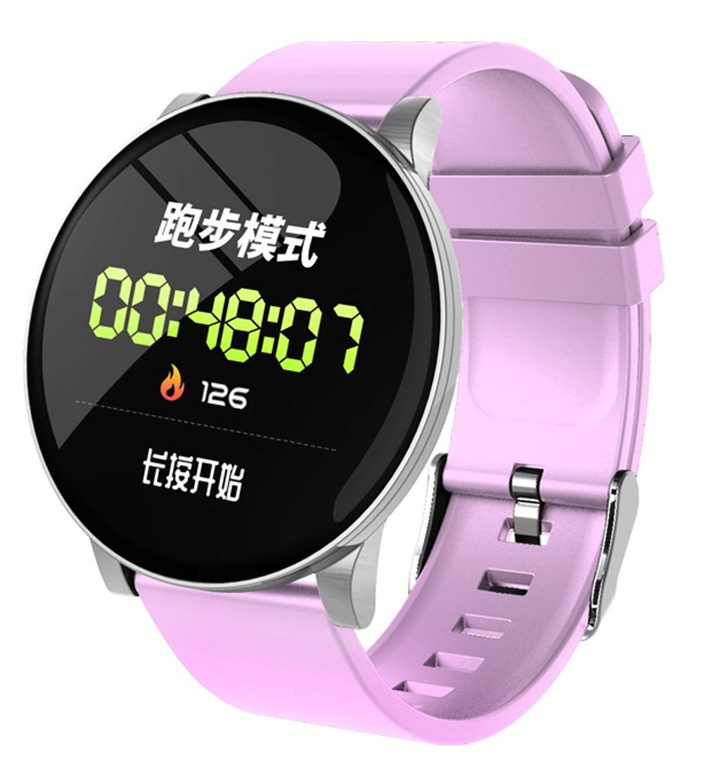 YANGYA Fitness Watch, Multiple Sports Mode Activity Tracking Pedometer Sleep Monitor Fitness Wristband, Ip67 Waterproof Compatible with Android iOS Phone-Pink by YANGYA