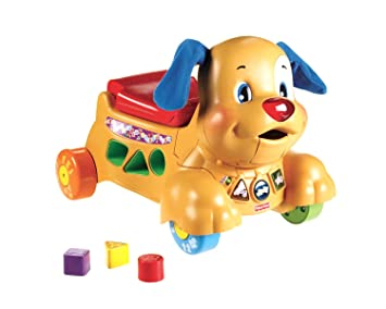 fisher price lauflernwagen hund
