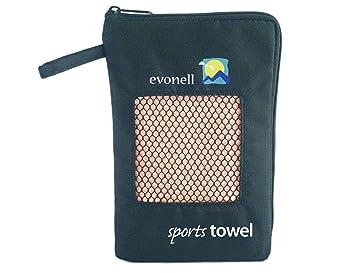 Evonell Toalla de mano deportiva, microfibra, diferentes tamaños y colores: Amazon.es: Deportes y aire libre