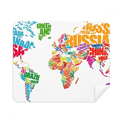 Amazon.com : Mutlicolour World Map Countries Name Phone ... on world map, drinking map, electricity map, concrete map, recycling map, el segundo map,