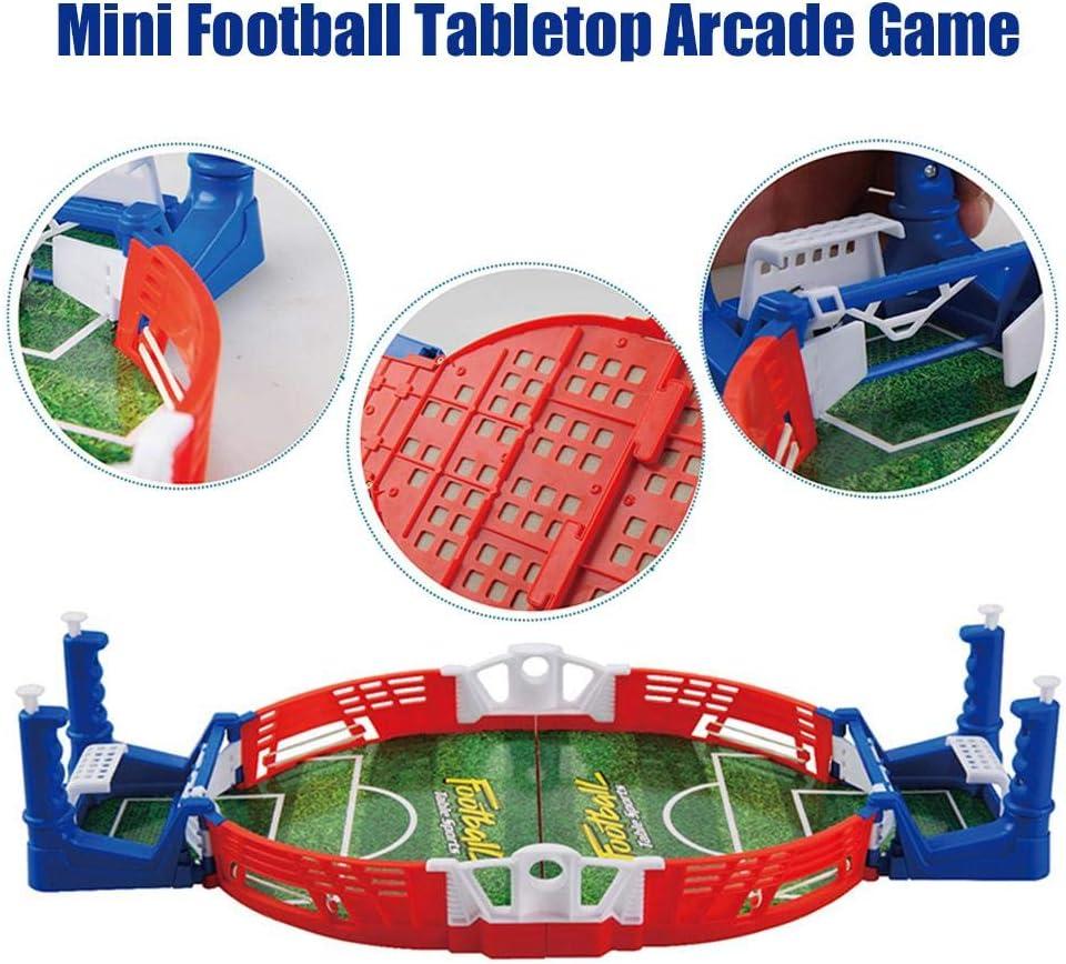 Dettelin Juego de fútbol, Mini Juego de diversión de Arcade de Mesa de fútbol, Juguete Interactivo de fútbol de Mesa para niños Adultos en la Oficina en casa