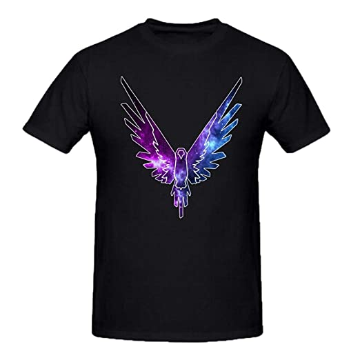 Maverick Logo T Shirt Logan Paul YouTube Men s Crew Neck T-Shirts Parrot  Logo Tees 8d30e143e