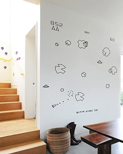 Official Atari Asteroids Video Game Re-Stik Reusable Wall Decals by BLIK Surface Graphics & Amazon.com: Official Atari Asteroids Video Game Re-Stik Reusable ...