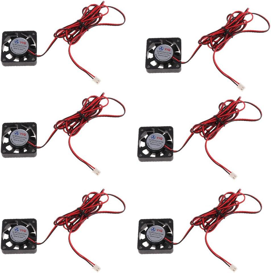 Gazechimp 6Pcs Mini Cooler 4010 Ventilador De Enfriamiento DC Sin Escobillas 24V 40x40x10mm Ventiladores para Caja De Computadora Reemplazo De Impresora 3D
