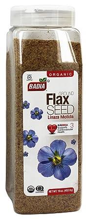 Badia – Orgánico Molido Lino Semillas – 16 oz: Amazon.com ...