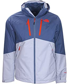 The North Face Mens Condor Triclimate Jacket, High Rise Grey/Conquer Blue (Medium