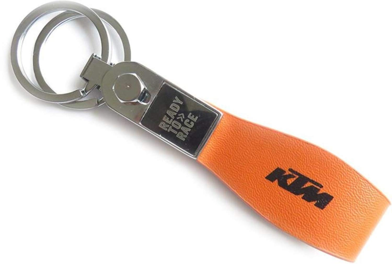 Gratus KTM Bike Leather Keyring Key Chain (Orange)  Amazon.in  Bags ... 247c557748e4
