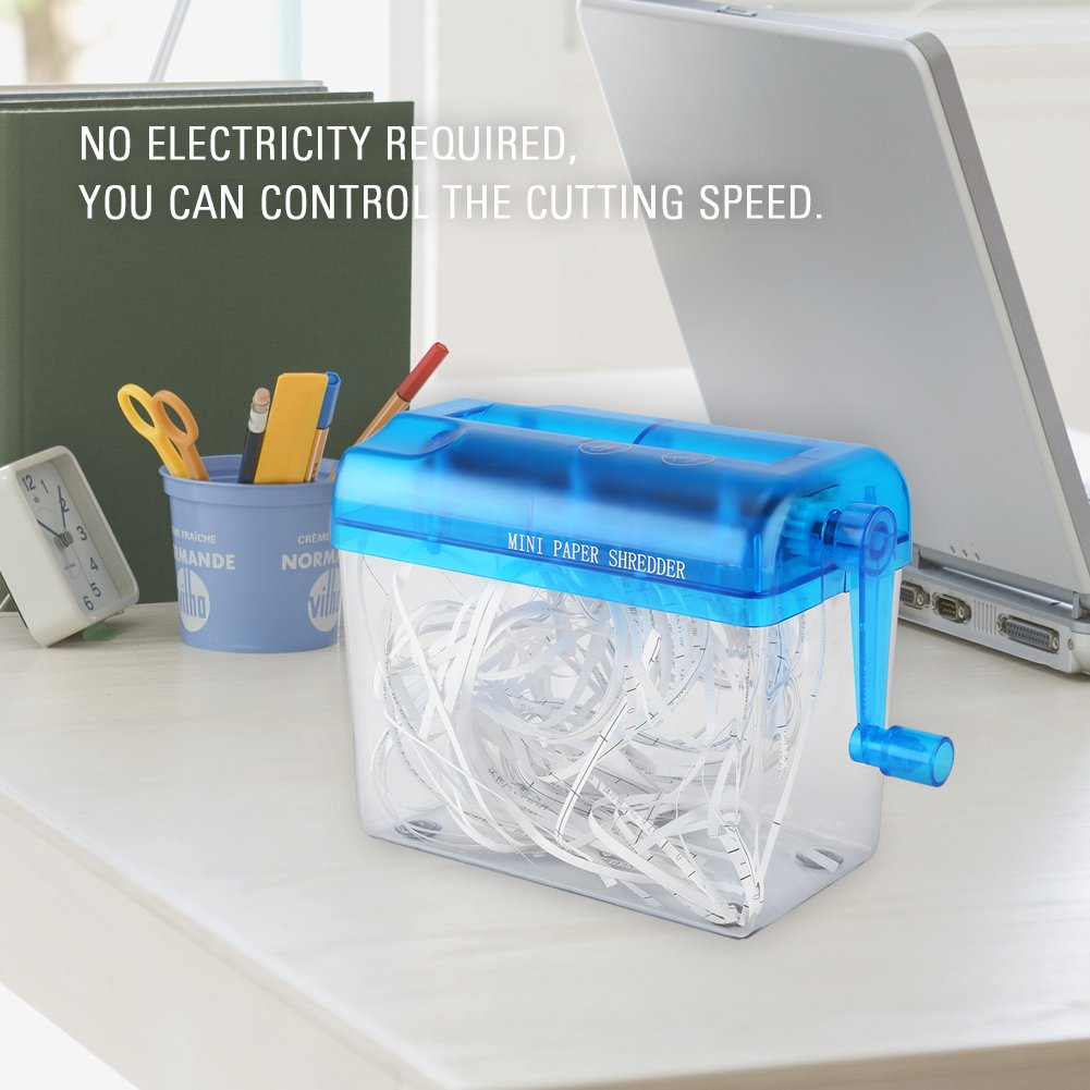 Pink Manual Paper Shredder A6 Folded A4 Portable Mini Paper Hand ...