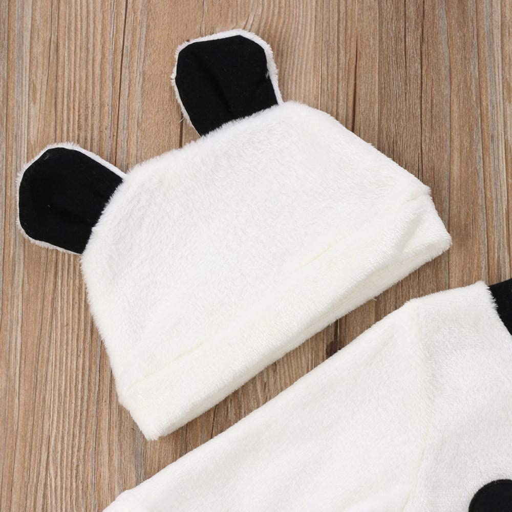 ❤️ Modaworld 3pcs reci/én Nacido ni/ña ni/ño Invierno Dibujos Animados Tops Camisas Camiseta Pantalones Trajes Ropa Conjunto Ropa c/álida esponjosa