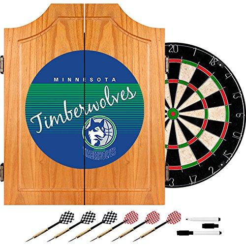 NBA Minnesota Timberwolves Wood Dart Cabinet, One Size, Brown