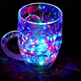 VCARE Flashing Led 7 Colour Changing Liquid Activated Mug Beer Mugs Rainbow Colour Changing, Pack of 1