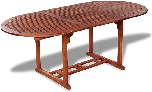 Tuduo Mesa de Exterior Extensible de Madera de Acacia diseño ...