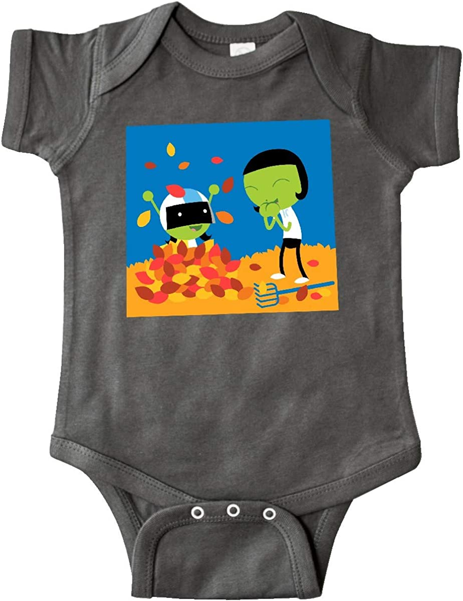 inktastic Dot and Dee Raking Leaves Infant Creeper PBS Kids