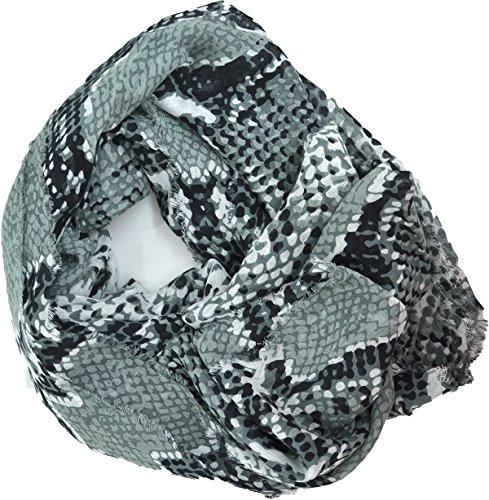 (Diane Von Furstenberg Black White Gray Heritage Python Women's)