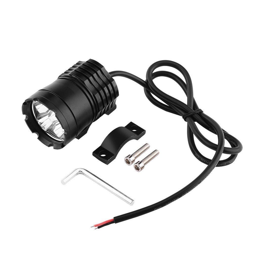 GZCRDZ 1 Pair Motorcycle LED Headlights 12V 80W 8000LM U2 LED Motorbike Beam Headlamp Moto Spot Head Light Auxiliary Lamp DRL Black