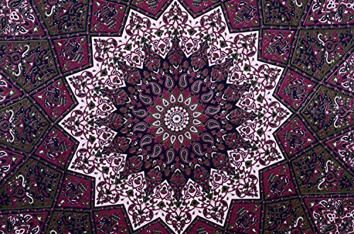 Plush Decor Star Hippy Elephant Mandala Tapestry Hippie Bohemian Wall Hanging Throw Queen Cotton Bedsheet Wall Art Decor