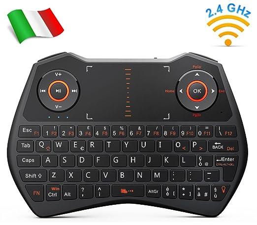 102 opinioni per Rii Mini i28C Wireless (layout ITALIANO)- Mini tastiera retroilluminata con