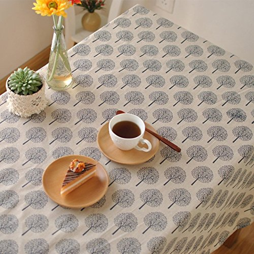 Aothpher 40 inch by 60 inch Rustic Tree Tablecloth Cotton Li