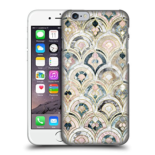 Price comparison product image Official Micklyn Le Feuvre Art Deco Tiles In Soft Pastels Marble Patterns Hard Back Case for Apple iPhone 6 / 6s