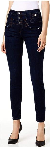 Caracterizar Encommium amargo  Liu Jo Jeans Skinny Bottom Up Vita Alta con Bottoni U69014D4376 30, 77701  den.Blu Eclipse: MainApps: Amazon.it: Abbigliamento