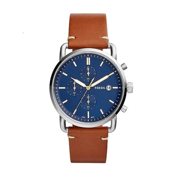 f2ce2135419b Fossil FS5401 Commuter Chronograph - Reloj analógico con movimiento de  cuarzo para hombre