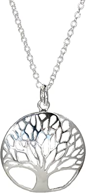 """/""""Tree of Life/"""" Necklace Silver plated 18 inch Silver plated Chain in Box"""
