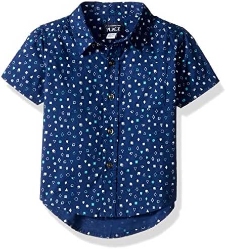 The Children's Place Baby Boys' Li'l Guy's Woven Shirt