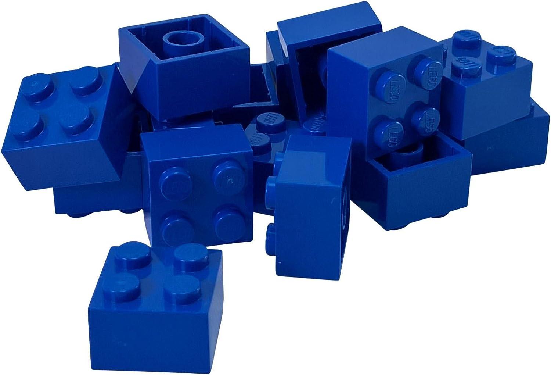 LEGO Parts and Pieces: 2x2 Blue (Bright Blue) Brick x20