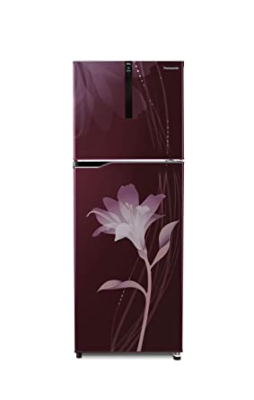 Panasonic 307 L 3 Star Inverter Frost-Free Double-Door Refrigerator (NR-BG311PLW3, Lily Wine) Large Appliances at amazon