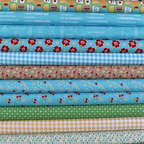 Bake Sale 2 Blue 11 Fat Quarters Bundle by Lori Holt of Bee in My Bonnet for Riley Blake, 2 3/4 yards total]()