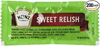 product image for Heinz Sweet Relish, 0.31-Ounce Single Serve Packages (Pack of 200)