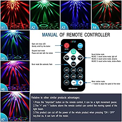 Spriak Led Party lights 2nd Generation Strobe Dance Light 3w Disco ball DJ Lights
