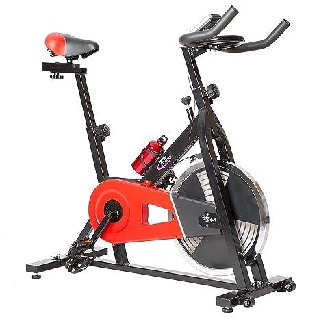 TecTake Bicicleta ESTATICA Fitness Maquina Bici Cardio con Monitor: Amazon.es: Deportes y aire libre